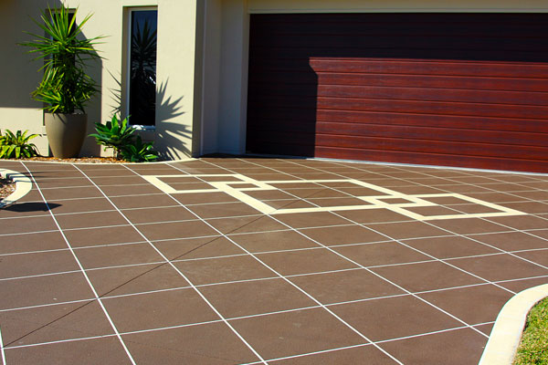 Stenciled Concrete Driveways Brisbane