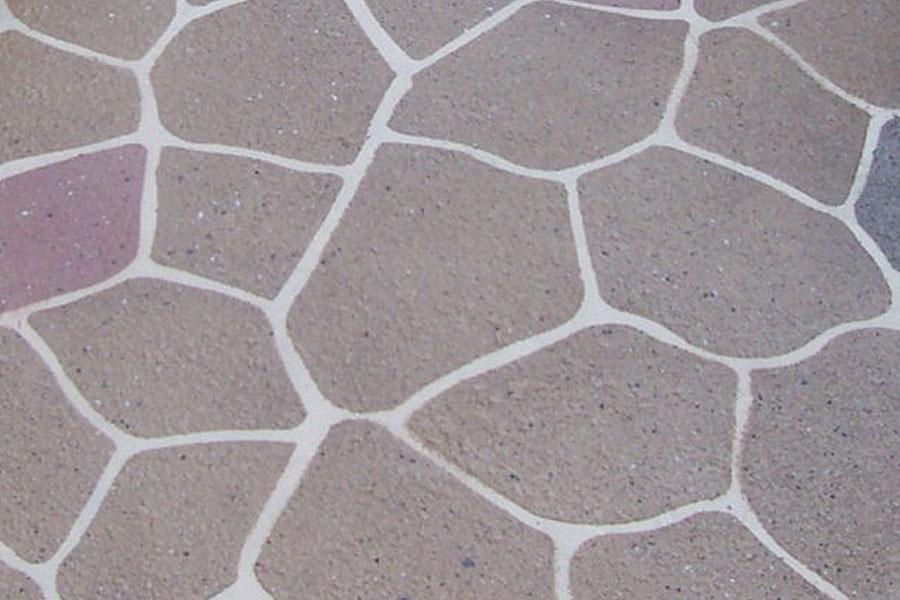 Stenciled Concrete Thundercrete
